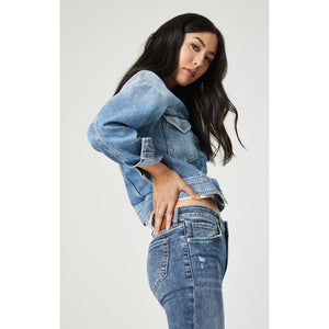 Rosa Denim Jacket - Mavi - Wall Street Clothing