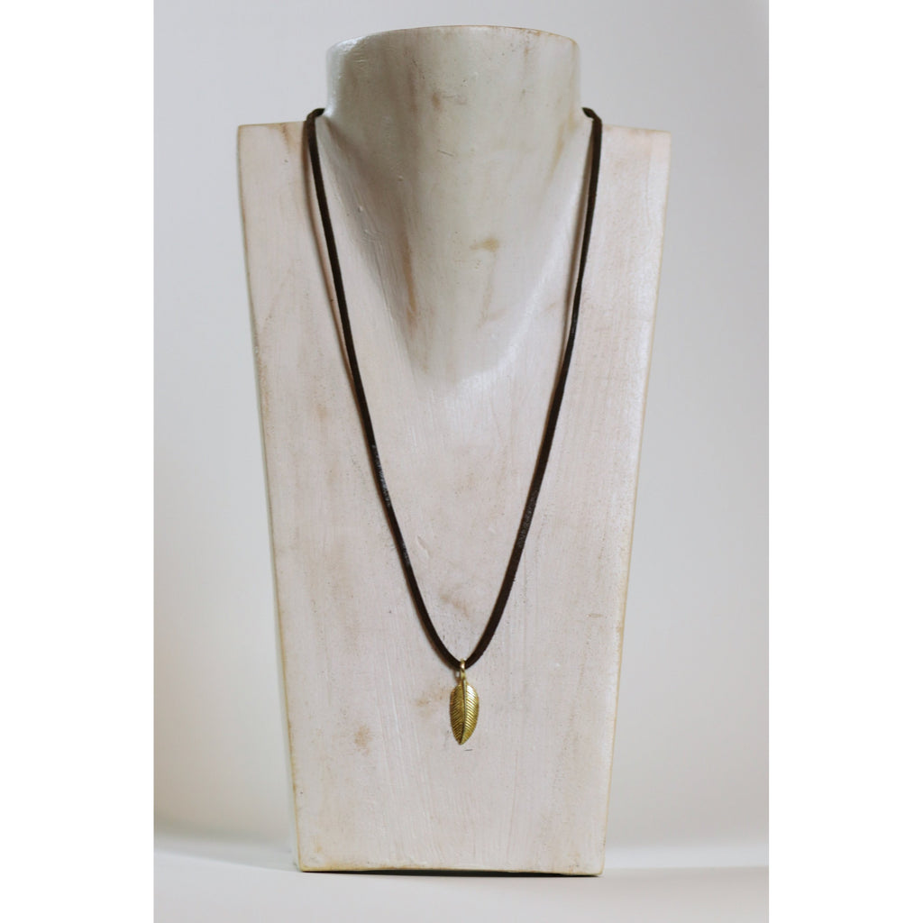 Small Feather Necklace - Freedom - Wall Street Clothing