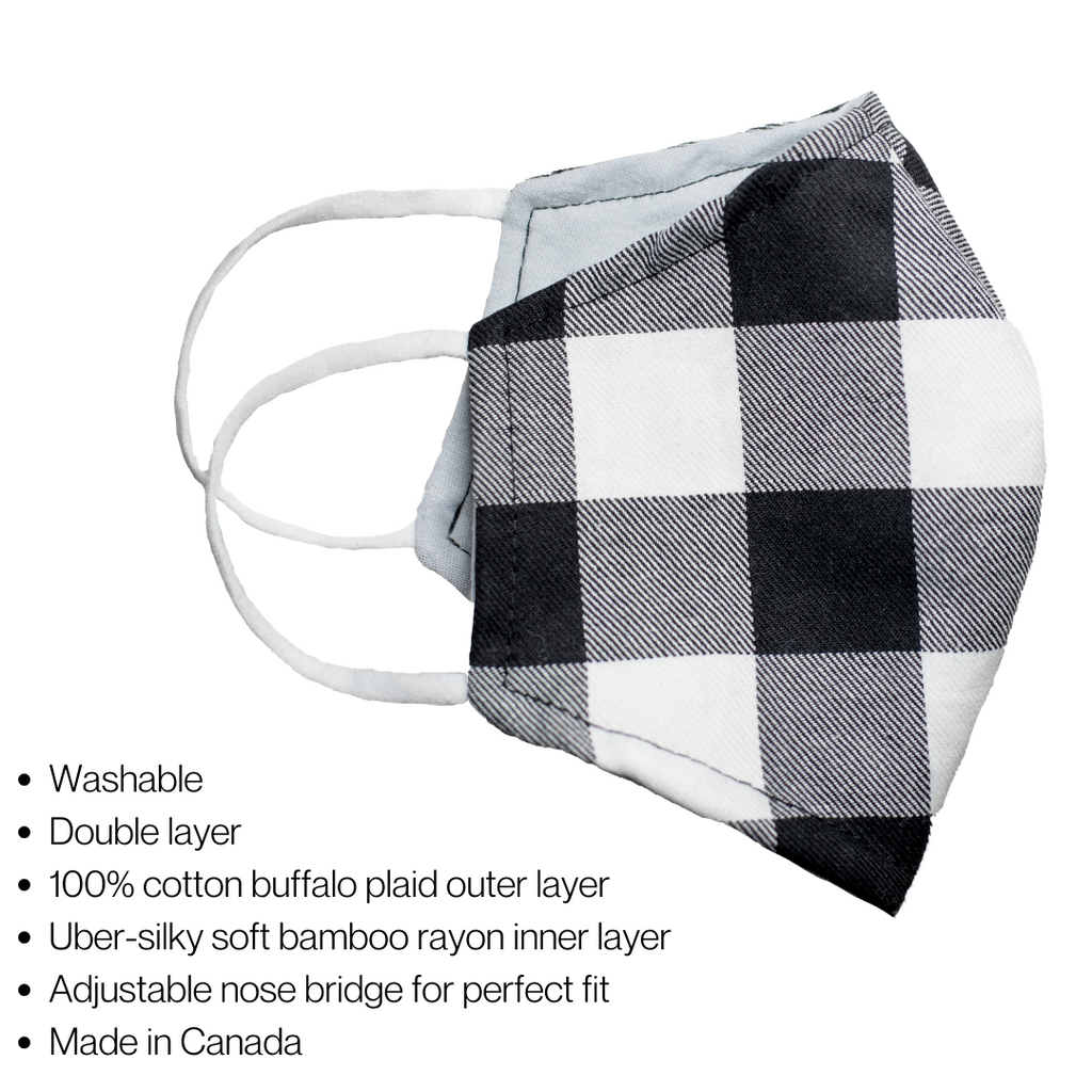Plaid Face Mask - Wall Street Clothing