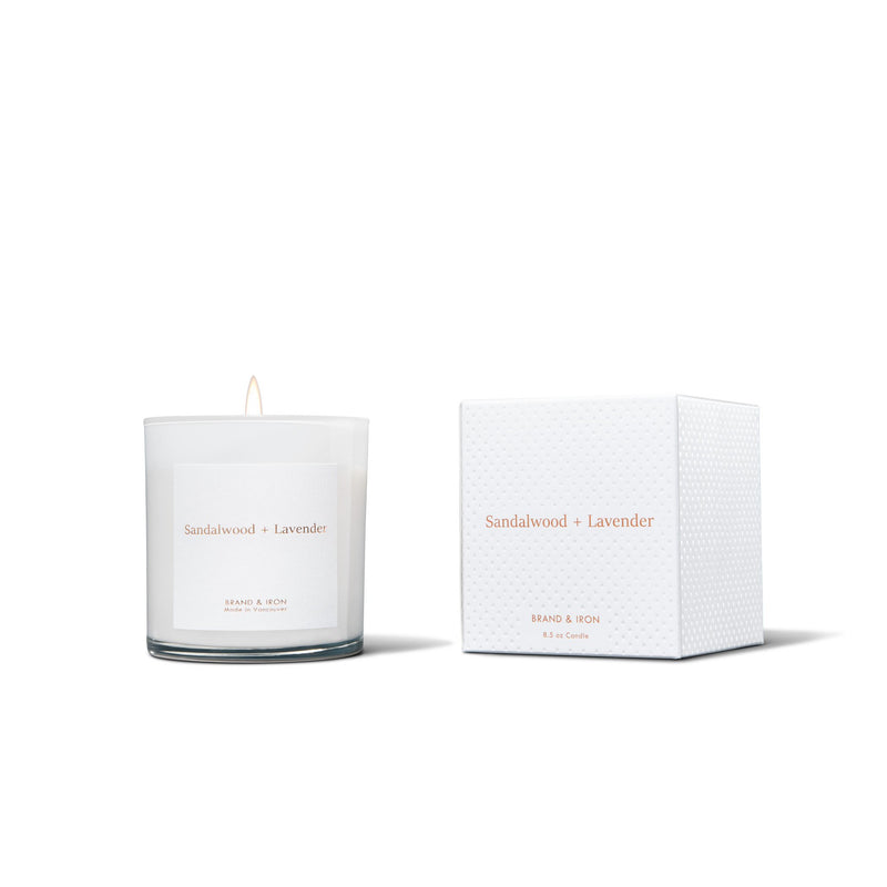 Sandalwood + Lavender Candle - Brand & Iron - Wall Street Clothing