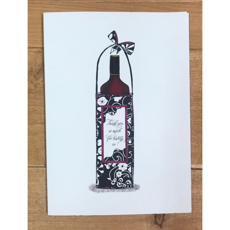 Wine Bottle TY - Paper Queen - Wall Street Clothing