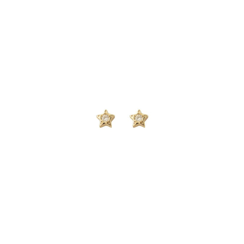 DIAMOND PENTAGRAM STUDS