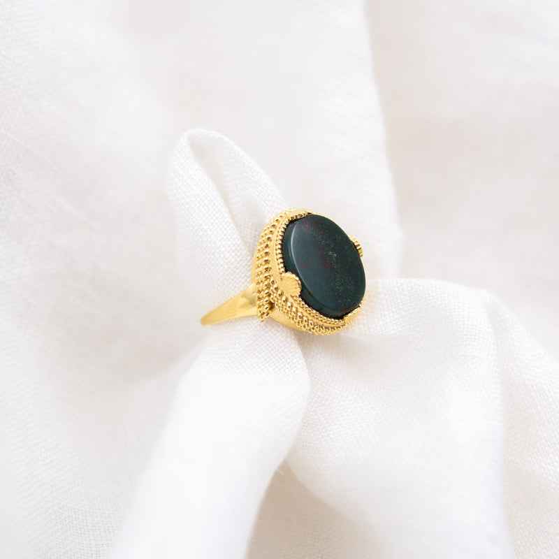 ARIEL BLOODSTONE ADJUSTABLE RING
