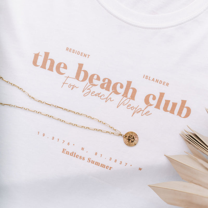 BEACH CLUB T-SHIRT SANDY TAUPE FADE
