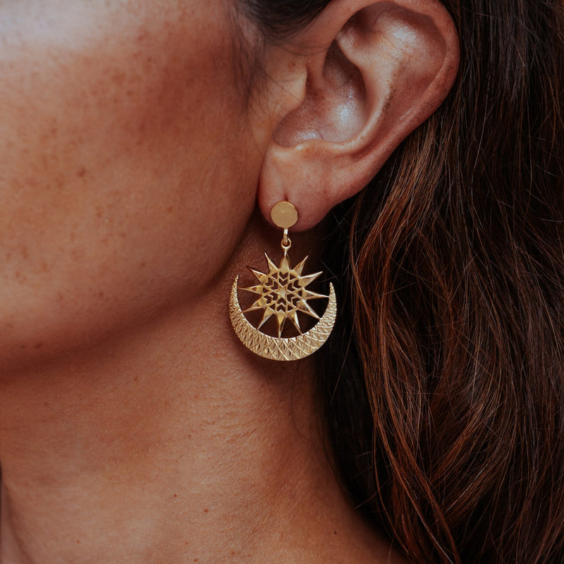 ECLIPSE EARRINGS HAMMERED TOP