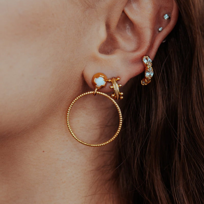 JEWELLED ACCORD EARRINGS CRYSTAL CABINET JEWELLERY