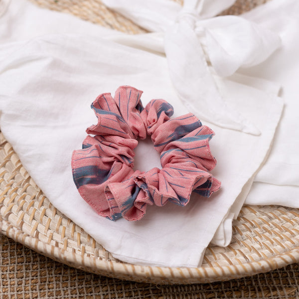 The Flamingo Stripe Scrunchie