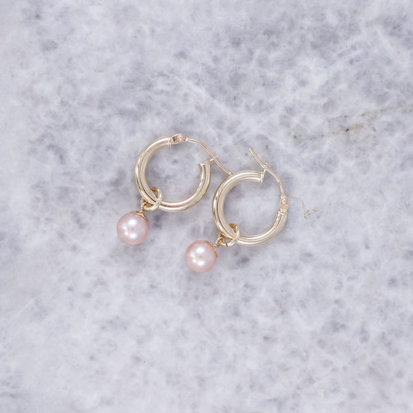 Lola Drop Hoops Blush