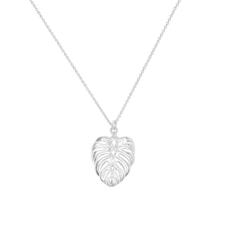 EDEN-LEAF-NECKLACE-SILVER-CABINET-JEWELLERY