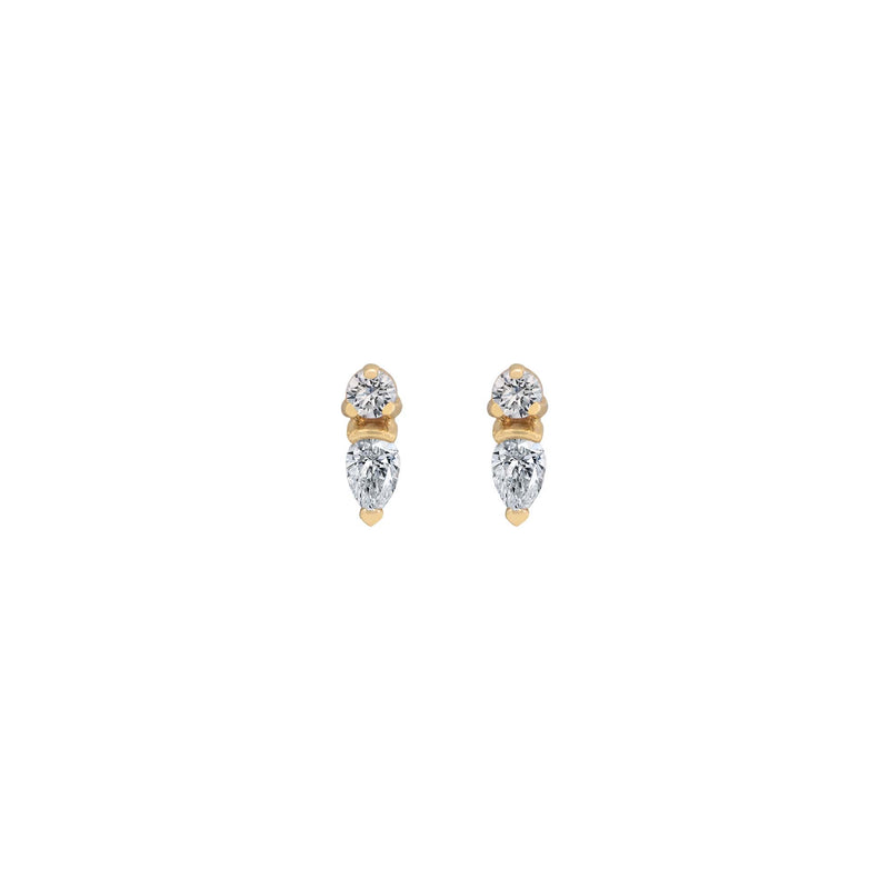 JEWELLED BLOSSOM STUDS - CRYSTAL