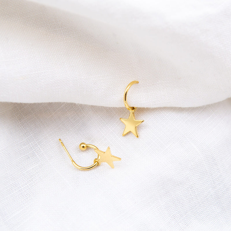 Mini Stella Star Hoop Earrings Cabinet Jewellery