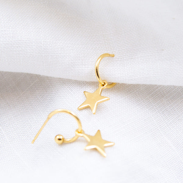 Mini Stella Star Hoop Earrings