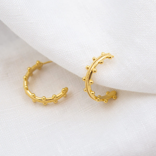 BEADED NEPTUNE HOOP EARRINGS