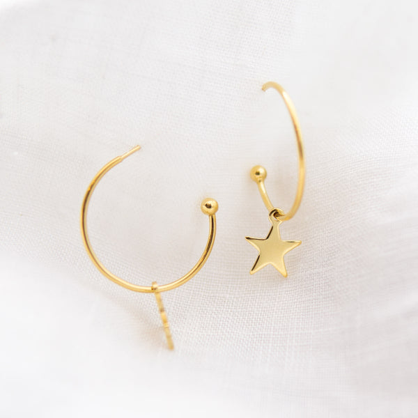 Stella Star Hoop Earrings