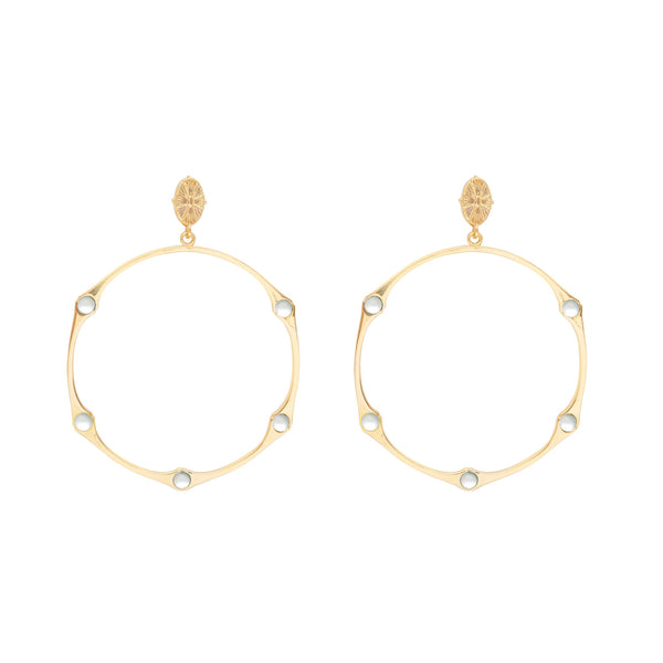 WHOLESALE Bamboo Pearl Hinged Shell Top Hoop