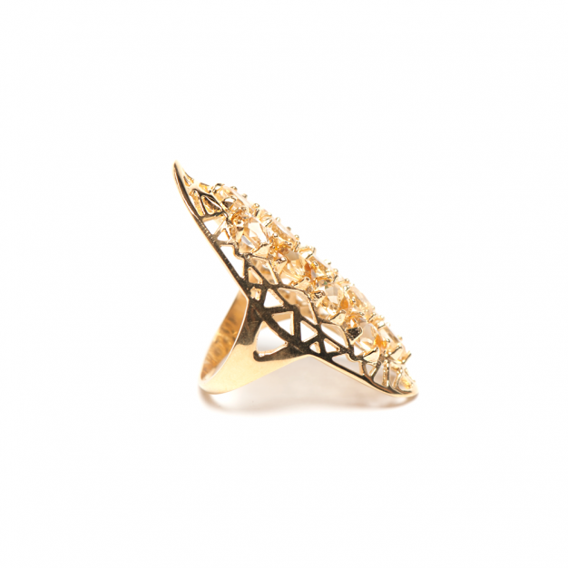 CITRINE SOCIETY RING