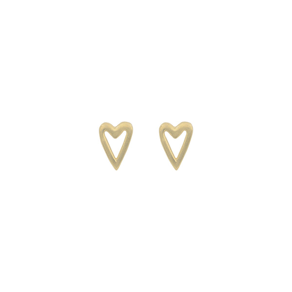 Heart Silhouette Studs
