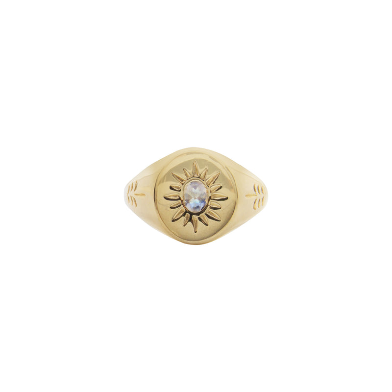Jewelled Sabal Signet Ring