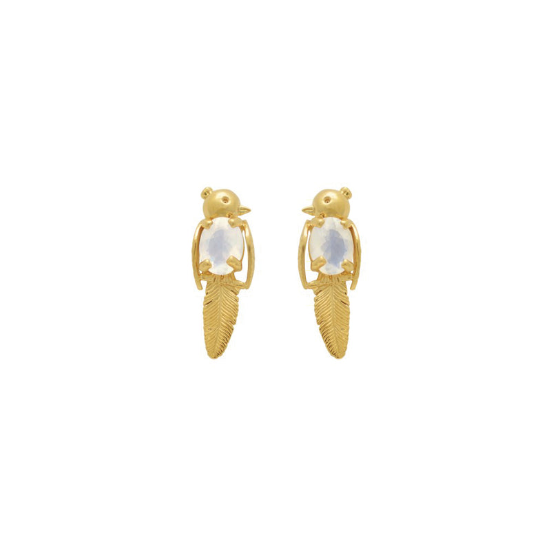 LOVEBIRD EARRINGS MOONSTONE
