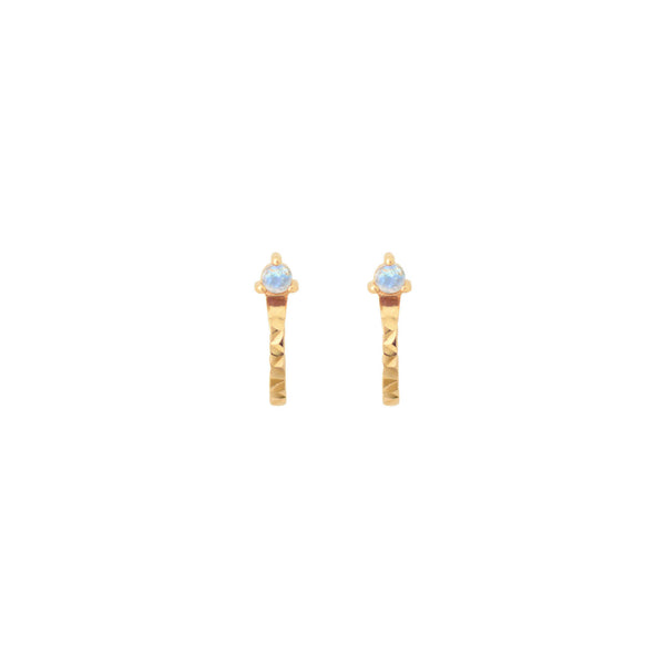TIDE STONE EAR CUFFS MOONSTONE