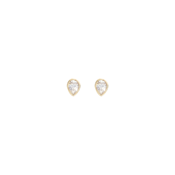 Neptune Studs Cubic Zirconia Single