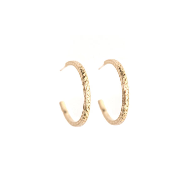 PLANTATION HOOP EARRINGS