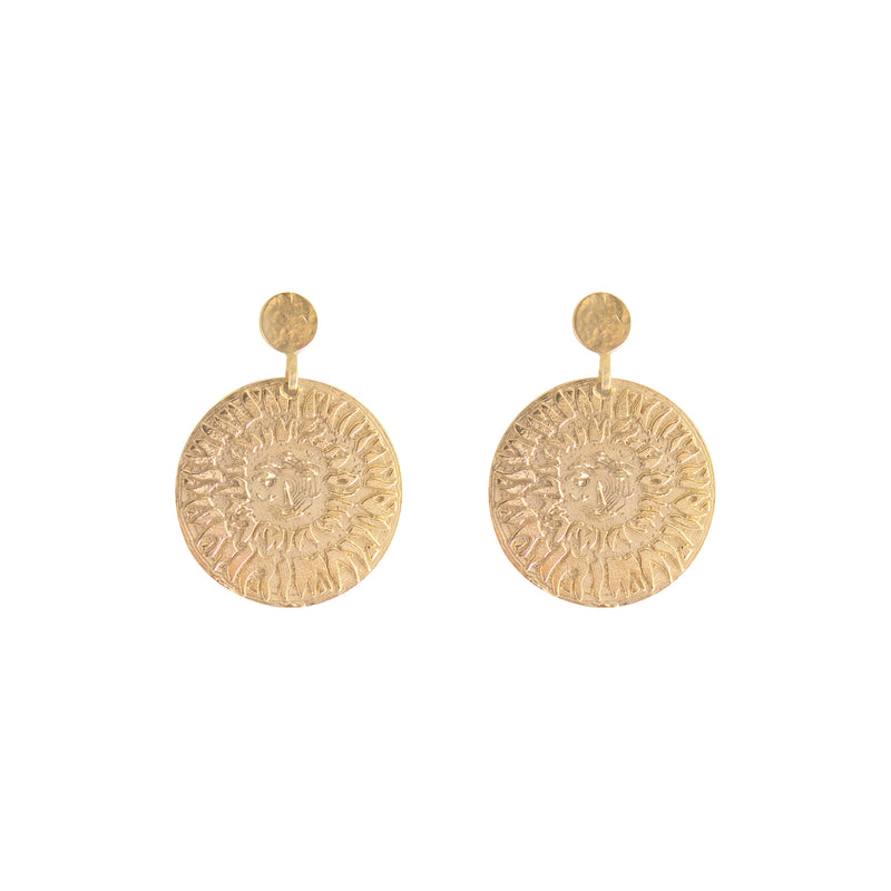 LION SUN EARRINGS