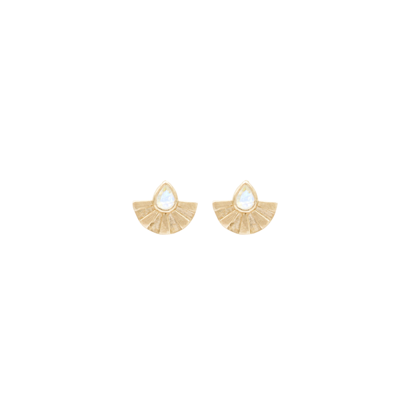 Sunrise Studs - Moonstone