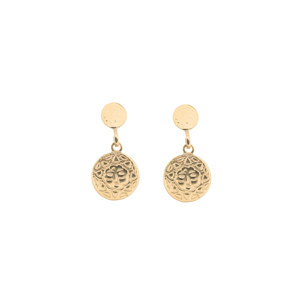 SUNSHINE COIN EARRINGS