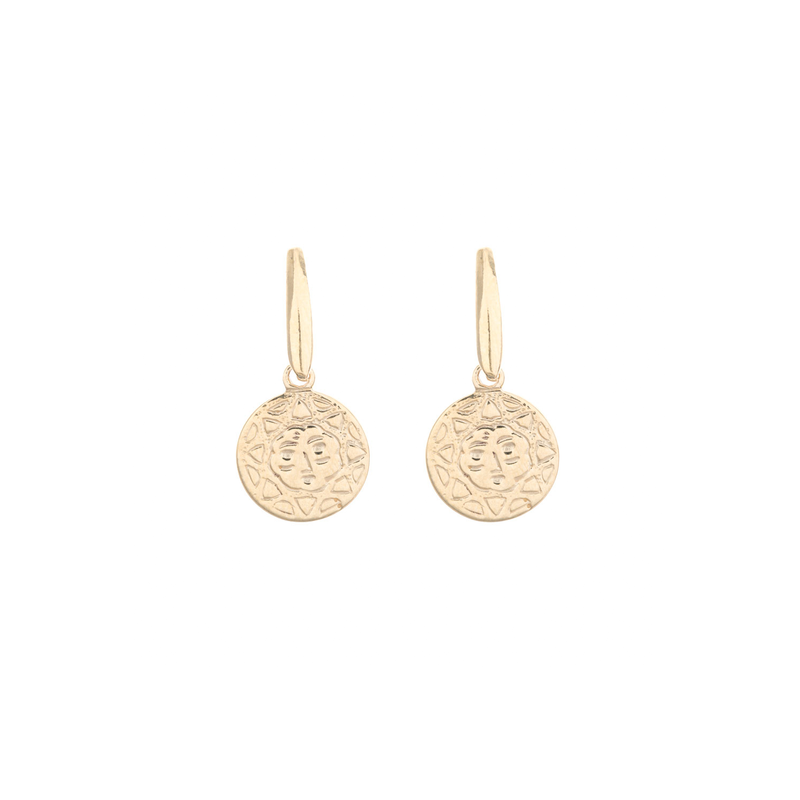 SUNSHINE COIN VIPER TOP EARRINGS