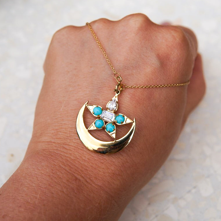 TURQUOISE NIGHTFALL NECKLACE