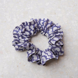 The Baby Blue Paisley Scrunchie