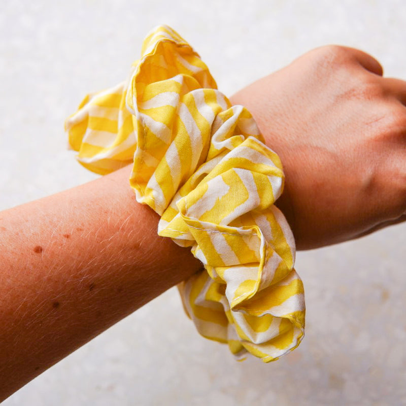 The Yellow Striped Scrunchie