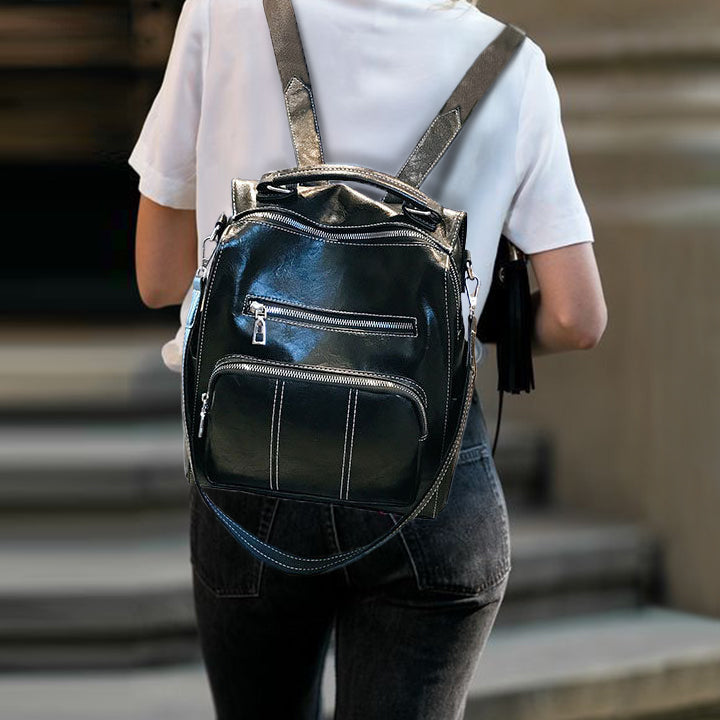 Zipper Shoulder Bag Backpack