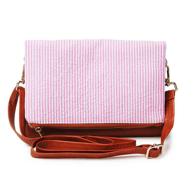 Fold Stripe Handbag Shoulder Bag