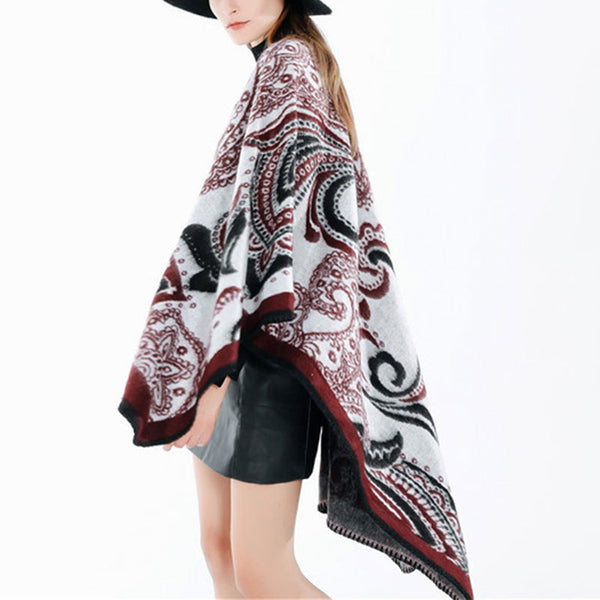 Retro Shawl Cape Scarf