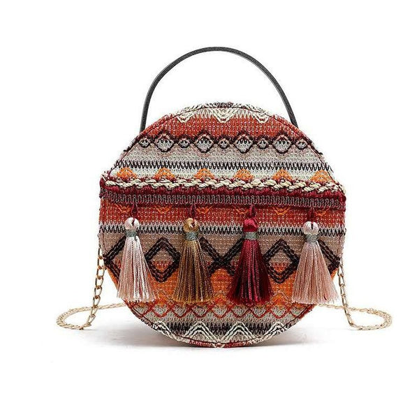 Retro Round Ethnic Bag