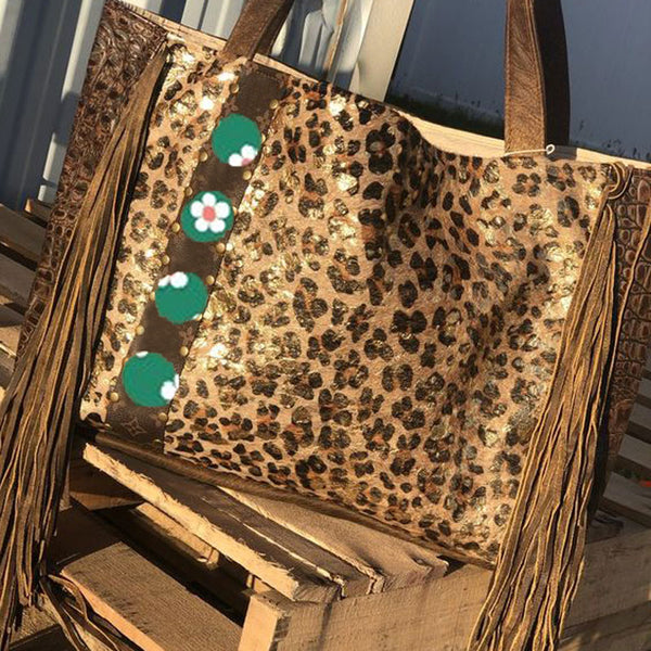 Leopard Tassel Retro Bag