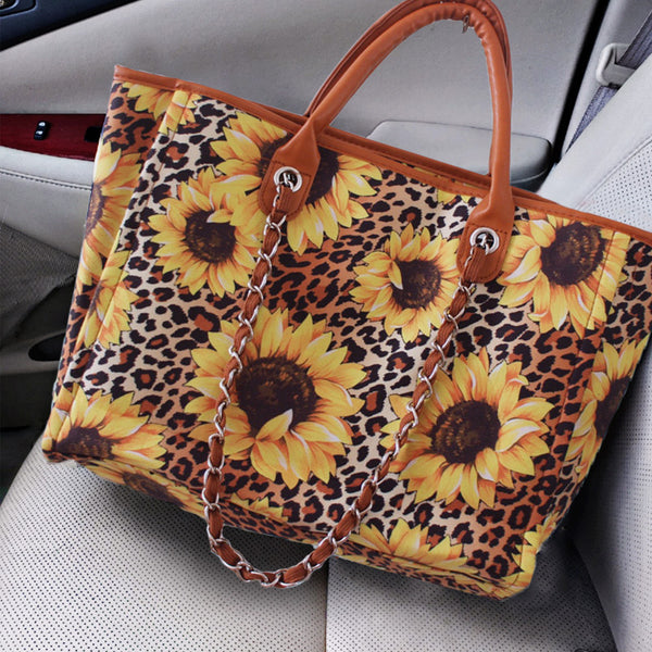 Sunflower Leopard Print Shoulder Bag