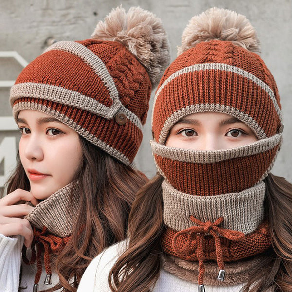 Scarf Hat Knitting Suit