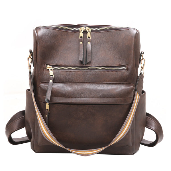 Zipper Backpack Shoulder Strap Bag