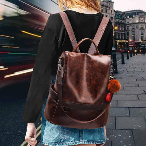 Zipper Travel Shoulder Bag Backpack