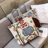 Bird Canvas Bag Handbag