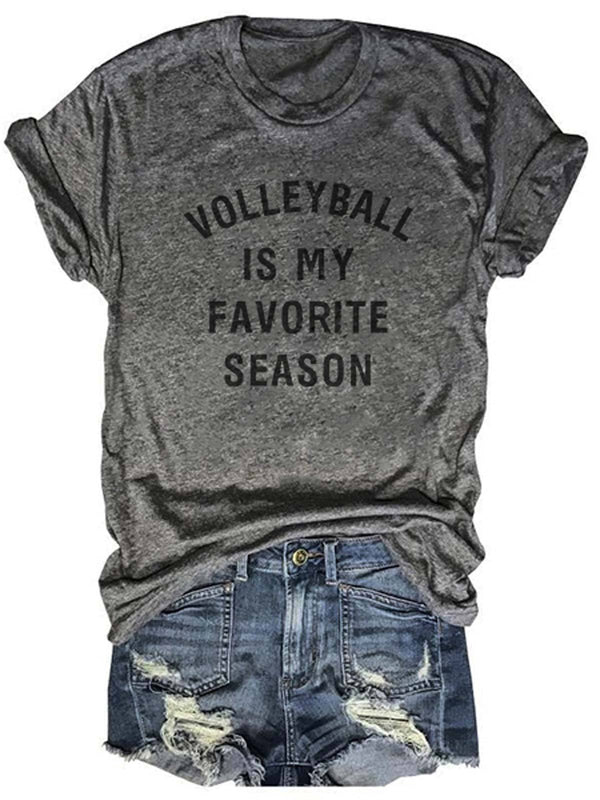 Volleyball Is My Favorite Season Tee