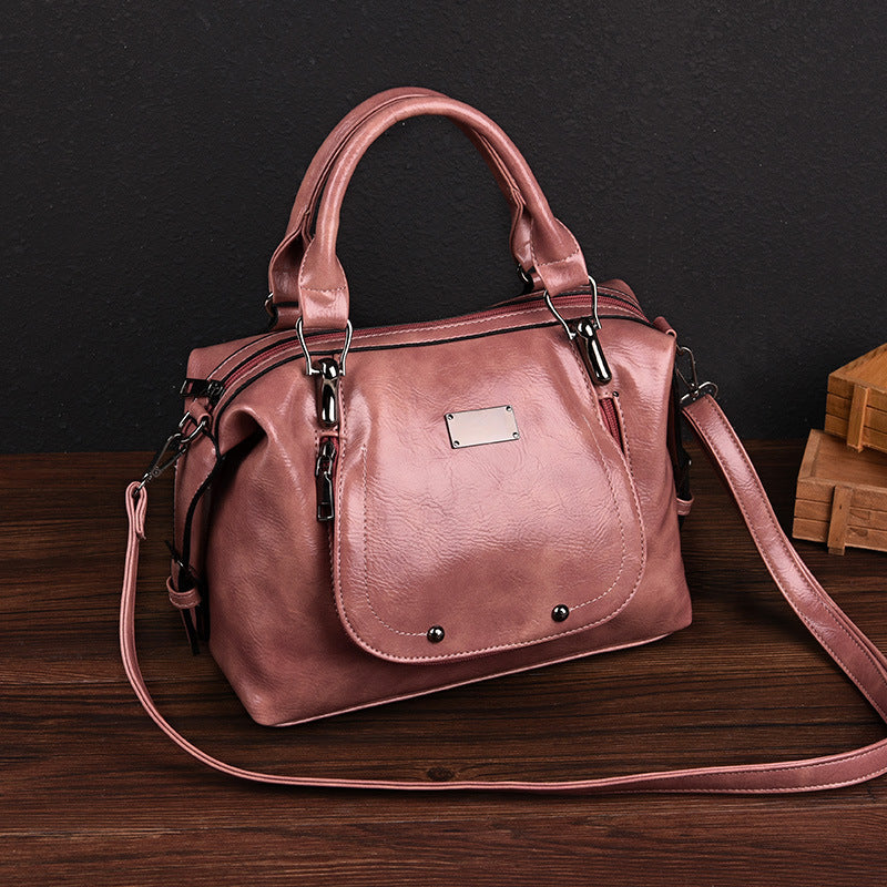 Zipper Shoulder Bag Handbag