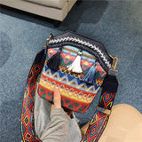 Retro Round Ethnic Tassel Bag