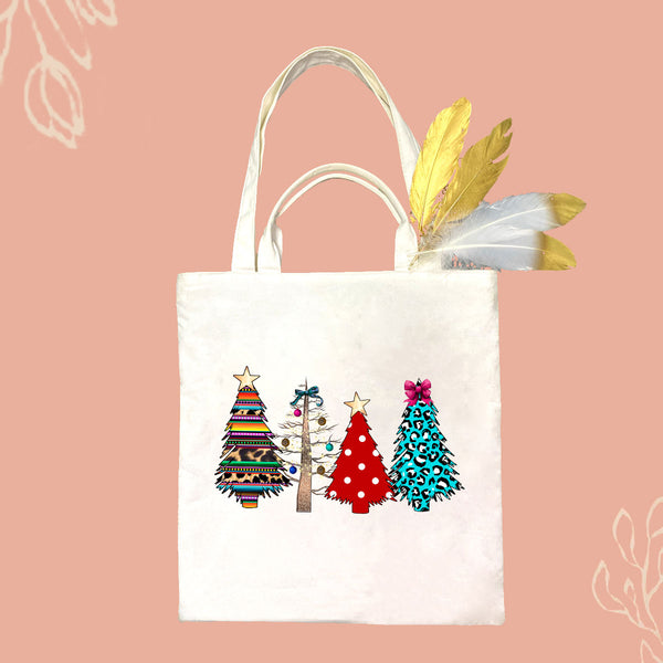 Christmas Tree Canvas Bag
