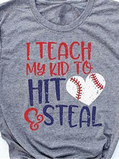 I Teach My Kid To Hit And Steel Baseball T-shirt