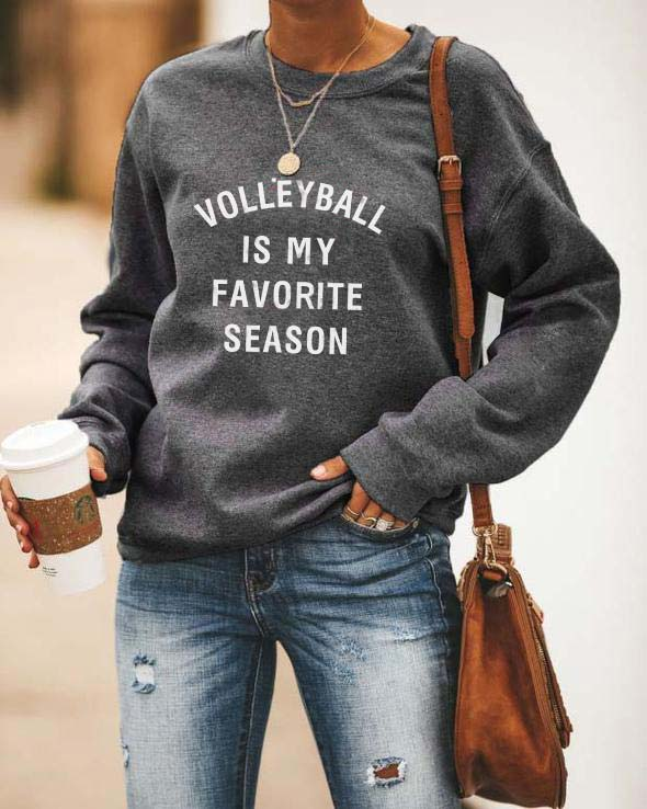 Volleyball Is My Favorite Season Sweatshirt-GR