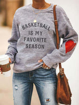 Cotton Basketball Is My Favorite Season Sweatshirt